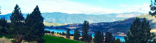 Stunning lake and mountain view from Country Ridge B&B in Oyama