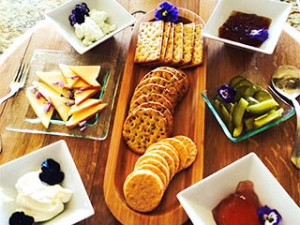 Cheese Tray extra for guests of Country Ridge B&B in Oyama