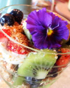 One of Robby's parfait creations from Country Ridge Bed & Breakfast in Lake Country BC