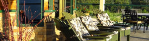 Out on the veranda at Country Ridge B&B in Oyama