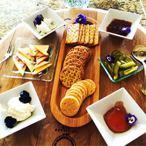 Cheese Tray offered by Country Ridge B&B in Lake Country, BC